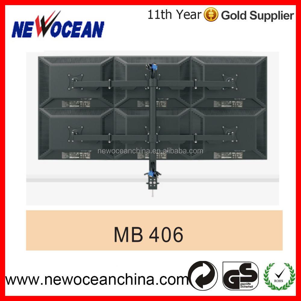 2016新しい高品質vesa 100 × 100液晶デスク マウント ブラケット (6 モニタ)
