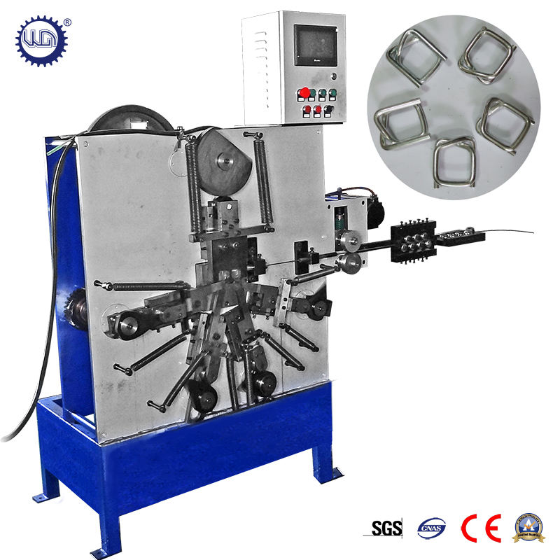 Mechanical Wire Buckle Making Machine Polyester Cord Strapping Wire Buckle Forming Machine with PLC and Step Motor
