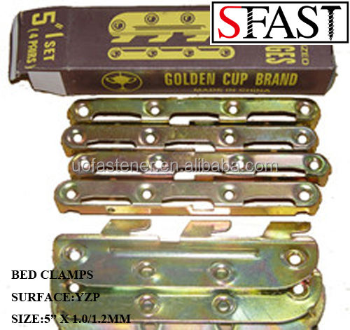 YELLOW ZINC PLATED BED CLAMPS