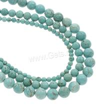Natural Turquoise Beads Round Hole:Approx 1mm Length:Approx 14.5 Inch 1192991