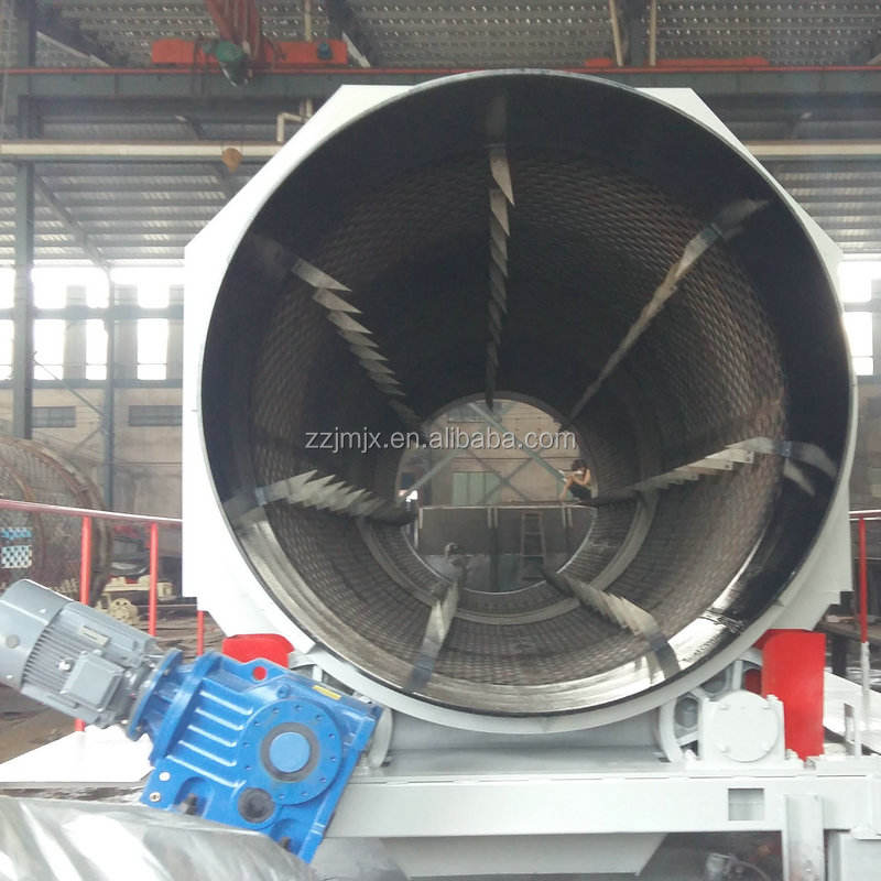 Waste sorting plant sieve machine garbage recycling plant