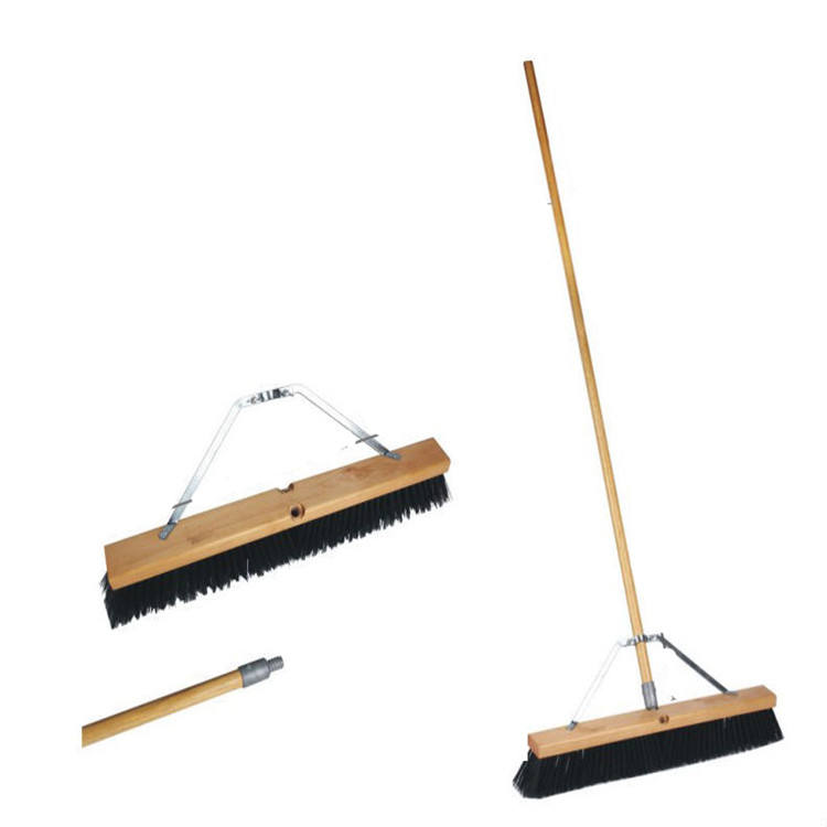 East wooden handle floor cleaning broom brush outdoor