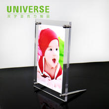 UNIVERSE 4x6 5x5 16x20 a3 hot sex gilr acrylic certificate frames block wholesale liquid clear acrylic photo frame