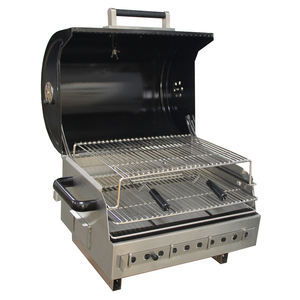 Easily Set Up Portable Charcoal BBQ Grill With Stainless Steel Grill Grate