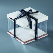 Best quality paper plastic tall cake box/wholesale clear cake packing boxes