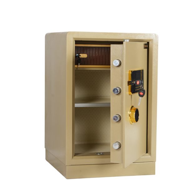 Gold color home money/files/Jewelry storage electronic home safe box