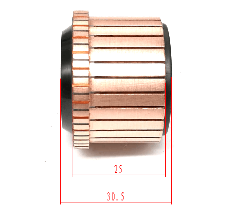 OD36.5/40* ID15*H 30.5-28segment commutator for power tool 180 bosche electric hammer machine. high quality and free samples