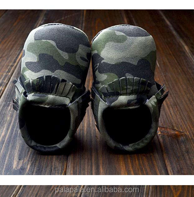 2018 new Fashion camo Baby First Walkers Moccasins Soft Kids Shoes Baby Prewalker Tassels Shoes