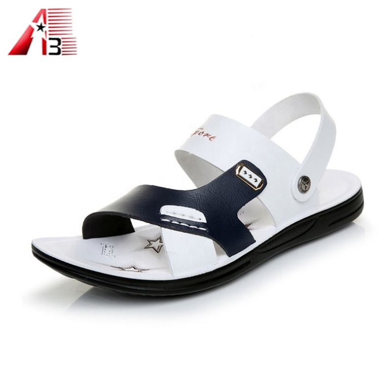 Leather men summer sandal made in china factory
