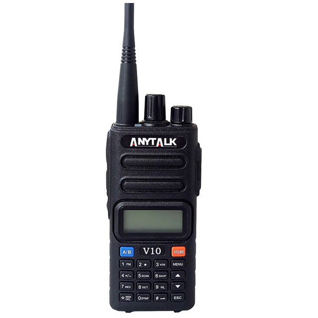 Anytalk wholesale price Air Band receiver 118-136MHz dual band radio multiband handheld transceiver CE approved 2 way radio V10