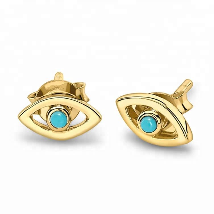 925 silver jewelry dainty turquoise eye fashionable earring