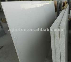Pure/Pearl White Quartz Slab for Kitchen Countertop Table Top Vanity Top