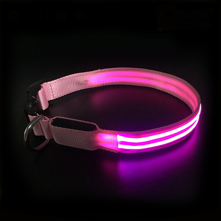 LED Pet Dog Collar Night Safety Flashing Glow for Dogs Supplies Collars for Small Cats