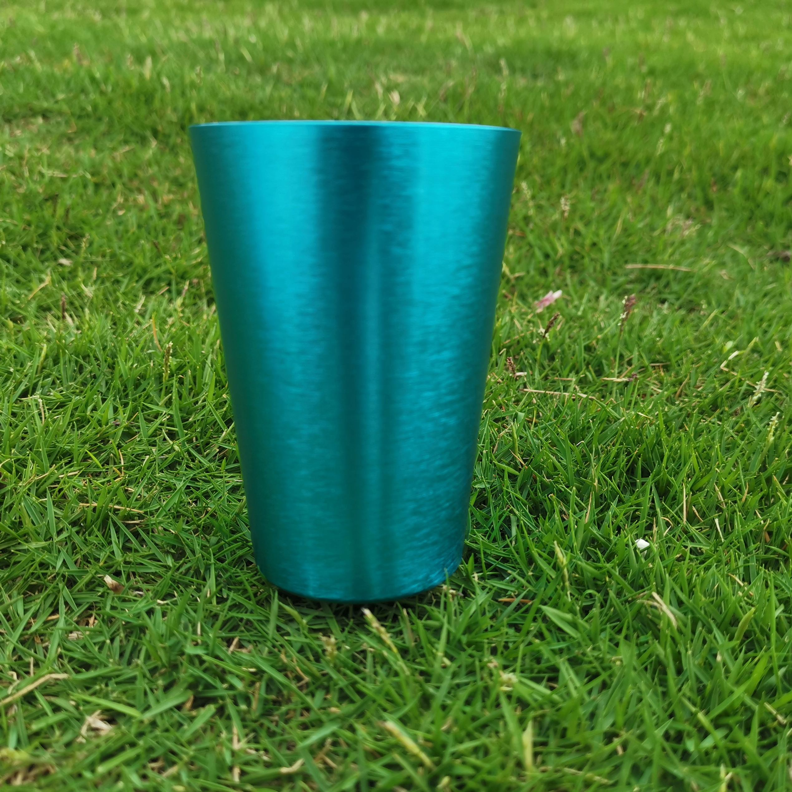 2019 220ml/8oz blue color anodized aluminum cup tulip german beer glass
