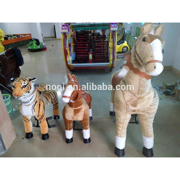 2018 three size for choice walking mechanical ride on horse,mechanical animals ride-coin