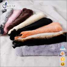 China Eco-friendly Tanned Dye Animal Fur Skins  Rex Rabbit Fur Pelts Wholesale for Sale