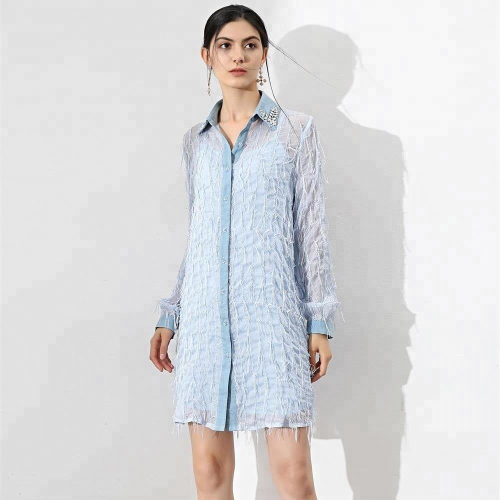2018 Latest Design Womens Summer Long Sleeve Swing Casual T Shirt Dresses