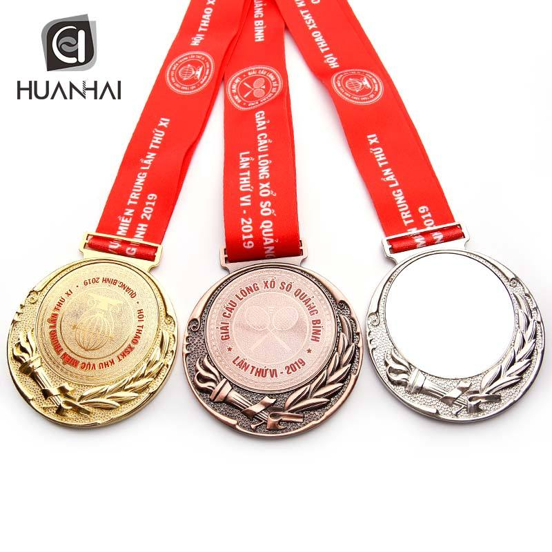 wholesale factory custom 3D gold silver copper plated blank metal award medal vietnam