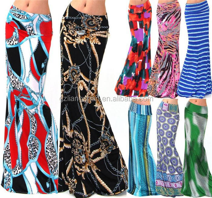 Stretchable traditional long skirt bodycon old fashioned skirt women elegant maxi skirt