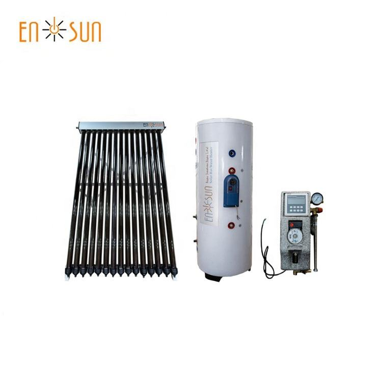 Hot sale evacuated tube heat pipe solar water heater roof system