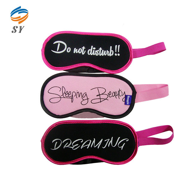 Hot sale letter printing sleep eye mask