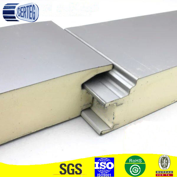 Fire proof PIR/PU Insulated foam Sandwich Panel for roof and wall at low price