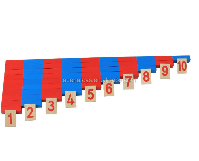 Wholesale Wooden Montessori Materials of Mathematic Materials Numerical Rods Montessori Toys for kindergarten and nursery