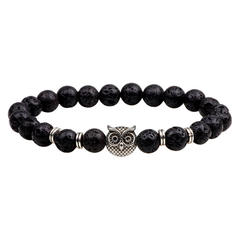 Save The Animal Natural Stone Bracelet With Animal Owl Charm Fashion Bracelet