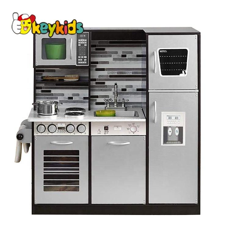 2019 New design kids large wooden toy kitchen play set for pretend cooking W10C458C