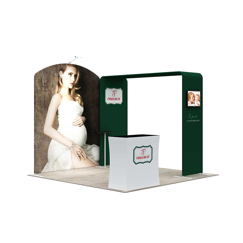10Ft Custom Trade Show Exhibition Aluminum Expo 3 X Stand Booth