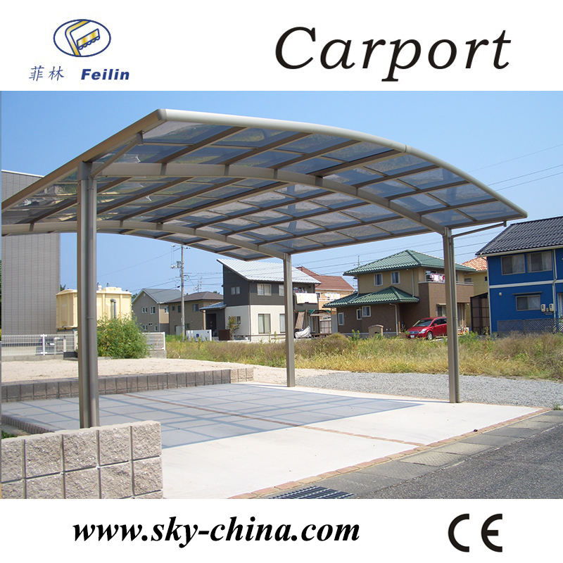 Polycarbonate and aluminum carport steel garage kits