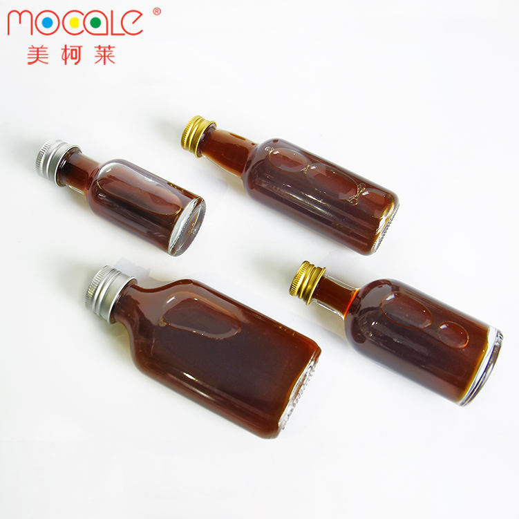 Mini 50 ml 250 ml 500 ml 750 ml Clear Spirit Glass Vodka Wine Bottle With Cap Wholesale