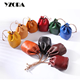 ODM multicolor minimalist plant tanned leather drawstring coin bag pouch