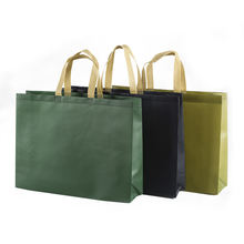 Custom Fashion Shopper Tote Reusable Recycled Eco Fabric Nonwoven Shopping Bag