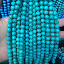 Factory Price of  Loose Natural 8mm Blue Turquoise Gemstone Beads Strands With Jewelry making  beads