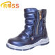 High Quality Leather Zipper Winter Children Half Long Kids Boots