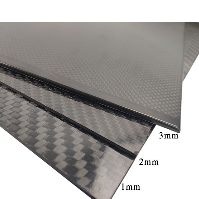 Real Carbon Fiber Gelamineerde Vel 1Mm 2Mm 3Mm Dikte Koolstofvezel Plaat