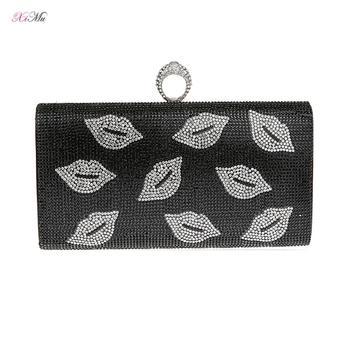 3D Fox Shape Women Animal Evening Bags Bridal Crystal Clutch Purses and Handbags