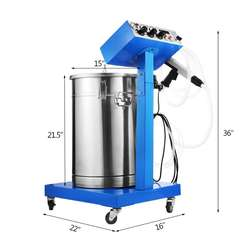 New Electrostatic Spray Powder Coating System Machine Spraying Gun Paint System Powder Coating Equipment