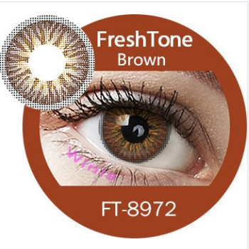 Young looking lady 3 tone soft color cosmetic contact lens at cheap prices from South Korea