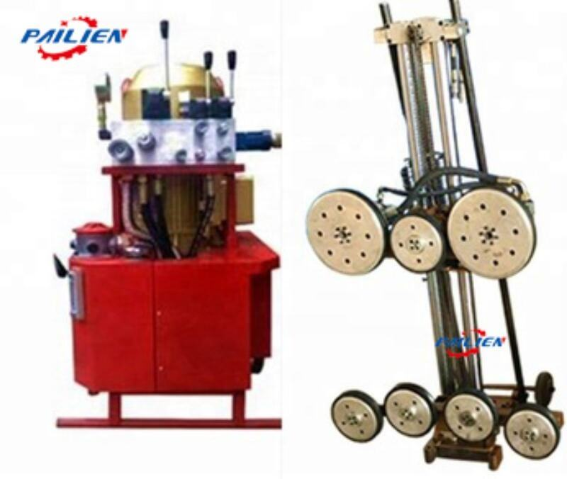 Factory direct sale hydraulic granite wire saw cutting machine