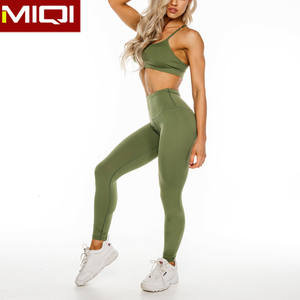 MIQI Apparel Custom Fitness Compression Tights Woman Yoga Set Workout Gym Pants High Waist Leggings