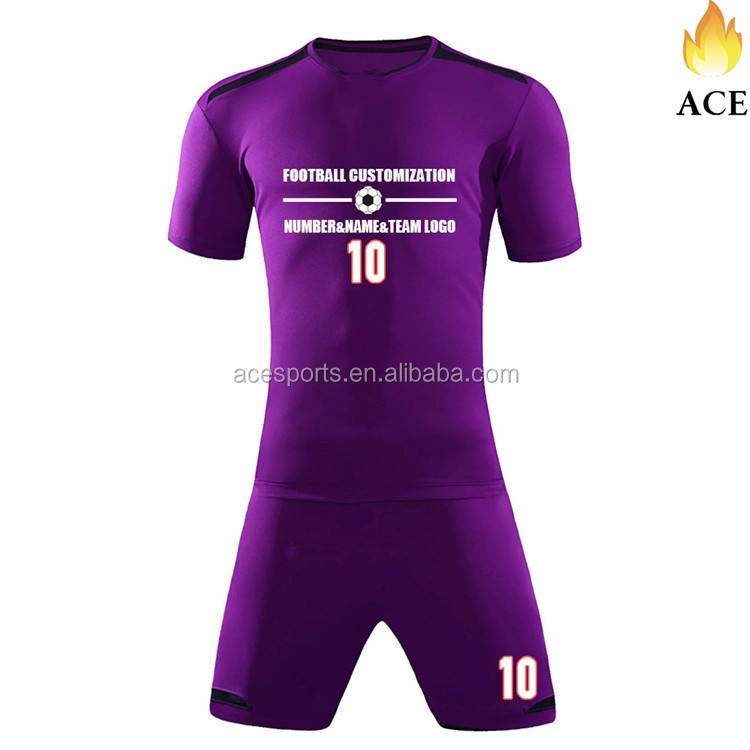 Custom Plain Purple Soccer/Football Jerseys,Training Suits,Polyester Fabric Wear