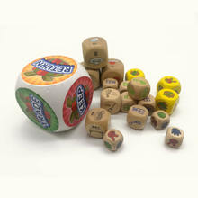 wholesale custom eco-friendly durable giant kids game wooden playing yard big dice toy set for craft