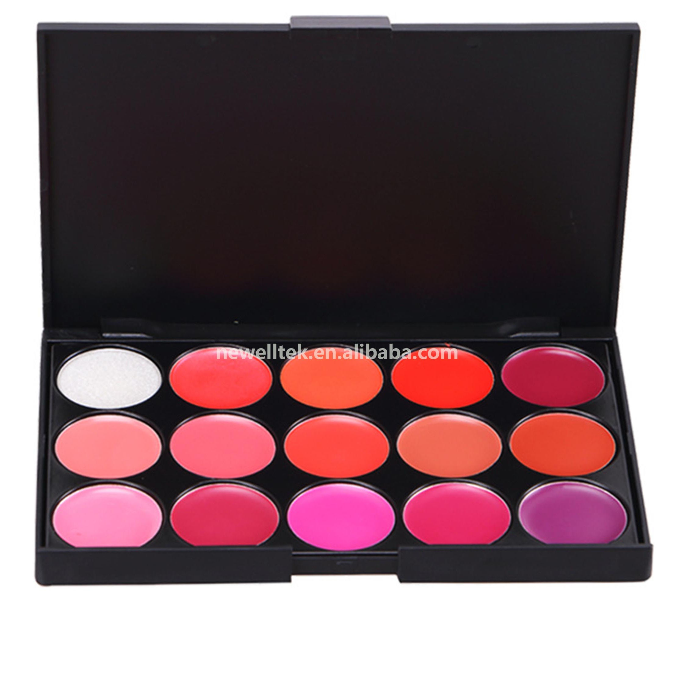 wholesale natural vegan makeup Lip Gloss palette private label beauty long lasting 15 colors Lip Gloss palette