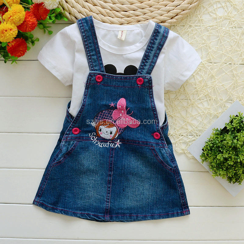 Baby girl Casual jeans dress Fashion Denim Dresses kids jean casual dress