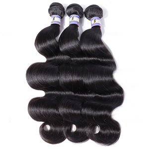 Tangle gratis natural body wave Virgin 8a grade braziliaanse haar