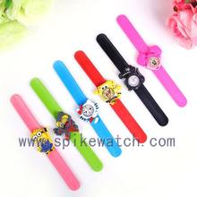 Children snap watch with animal waterproof cute wholesale cheap slap watch