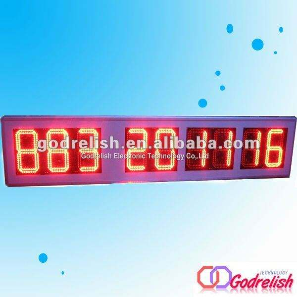 large led countdown clock timer display