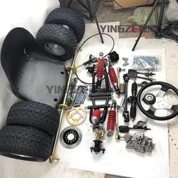 GO KART KARTING ATV UTV 1M Rear Axle Steering Rack Tie Rod Steering Wheel Brake Pump With 13X6.50-6 Inch Wheel